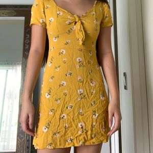 Yellow dress with flowers